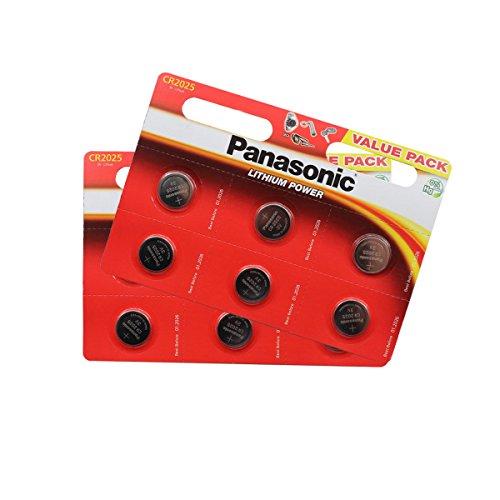 Panasonic CR2025 Lithium Knopfzellen Batterie 12 Stück im Blisterverpackung