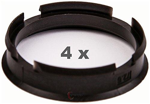 4 x Zentrierringe 72.6 mm auf 63.4 mm dunkelbraun/darkbrown