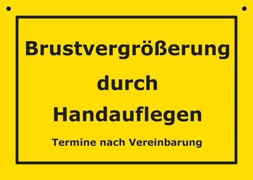 Postkarte Kunststoff +++ VERBOTENE SCHILDER von modern times +++ BRUSTVERGRÖßERUNG DURCH HANDAUFLEGEN +++ ARTCONCEPT VERBOTENE SCHILDER