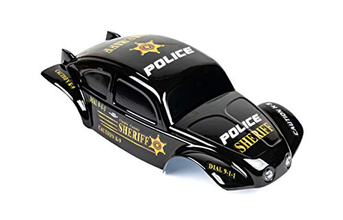 Custom Body Police Style Compatible for 1/10 1/8 Scale RC Car or Truck (Truck not Included) B-PB-01