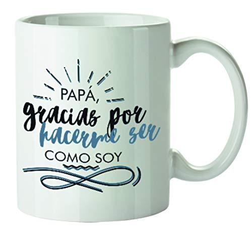 Kembilove Tazas de Desayuno Originales para Padres – Taza con Mensaje Papá Gracias por hacerme ser como yo – Taza de Desayuno para Regalar el día del Padre – Tazas de Café para Padres y Abuelos