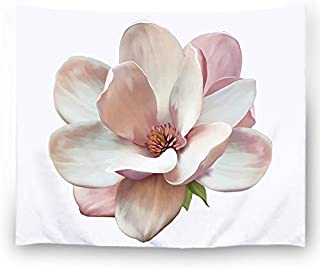 Misscc Wall Art Tapestry for Bedroom Living Room Light Pink Magnolia Flower Pattern Home Decor Wall Hanging Tapestries