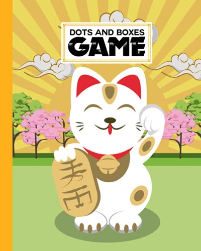 Dots And Boxes Game: Neko cat Cover Dots And Boxes Game, A Classic Strategy Game - Large and Small Playing Squares, 120 Pages, size 8