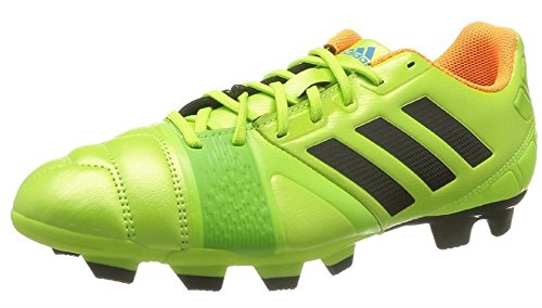 adidas Performance Men's Nitrocharge 3.0 TRX Firm-Ground Soccer Cleat, Solar Slime/Black/Solar Zest, 13.5 M US