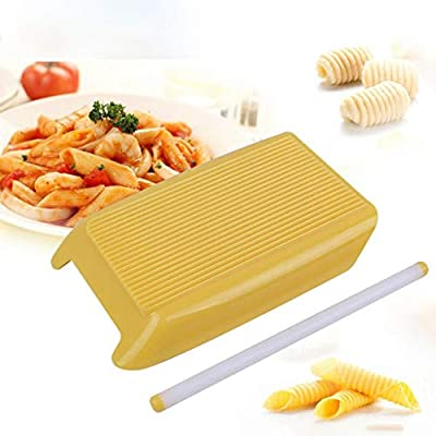 Pasta Macaroni Board,Home Handmade Pasta Macaroni Board Kitchen Spaghetti Rolling Maker Food Supplement Molds Cooking Tool
