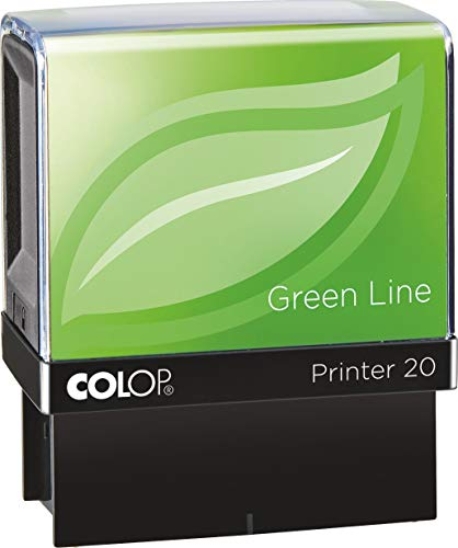 COLOP Printer 20 CHECKED Green Line Stempel - Rood Inkt