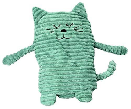Inwolino 4038904087915 8791 - Wärmetier Katze, 17 x 26 cm, türkis, Wärmekissen, blau