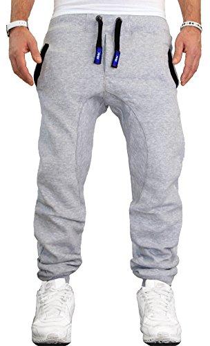 RMK Herren Hose Jogginghose Trainingshose Fitnesshose Sweatpants H.00 5XL Hellgrau