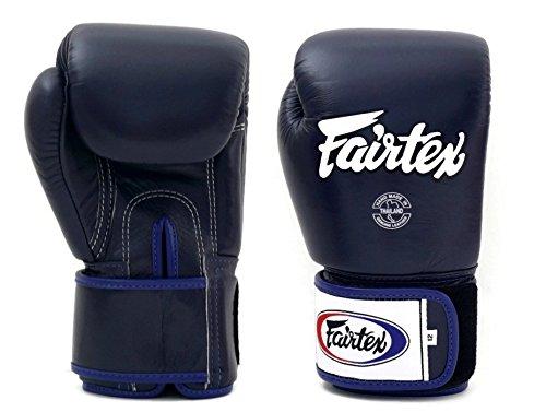 Fairtex Muay Thai Boxhandschuhe BGV1 - blau Größe 10 12 14 16 Unzen Training & Sparring All Purpose Gloves for Kick Boxing MMA K1 Tight Fit Design (Blue, 10 oz)