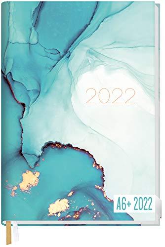 Chäff-Timer Mini Kalender 2022 A6+ [Smaragd Gold] mit 1 Woche auf 2 Seiten | Terminplaner, Wochenkalender, Organizer, Terminkalender mit Wochenplaner | nachhaltig & klimaneutral