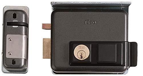 Cerradura eléctrica para instalar art. 525Pestillo autobloqueo, cilindro interno y cilindro fijo...