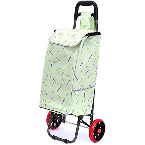 ZHANG Shopping Trolley On 2 Wheels With Folding Design Multifunction Shopping Cart Grocery Bag Large Capacity Reusable Trolley