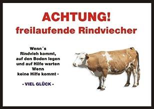 Indigos UG - Let / Fun schild - kalf, koen, koen, koen, koen, koen, koen, deurbordje deurbordje A4 ca. 30x21 cm 3mm PVC - ...