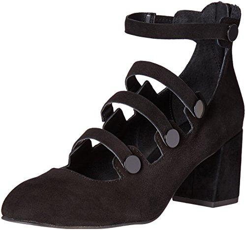 Rebecca Minkoff Women's Blair Emboridered Fashion Sneaker, Black Suede, 9 M US
