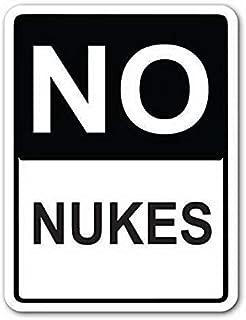 Tin Sign 8x12 Inch No Nukes Street Sign Funny Pub Home Decor Aluminum Metal Sign