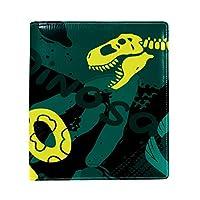 Carrozza ブックカバー 文庫 新書 恐竜 動物柄 迷彩柄 本カバー 16x22cm おしゃれ かわいい PUレザー 革