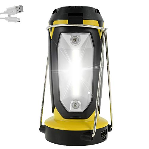 Led Camping Lantern Rechargeable Portable Camping Accessories Light Used for Hiking, Tents, Power Cuts & Emergencies, USB Powered, Collapsible, Water Resistant Outdoor Lamp with 3 Different Lighting