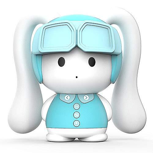 QHWJ Intelligente Erziehungsmaschine Für Kinder Mit Mensch-Computer-Interaktion, Bluetooth-Lautsprecher Und Sprachgesteuertem Hightech-Spielzeugroboter,Blau