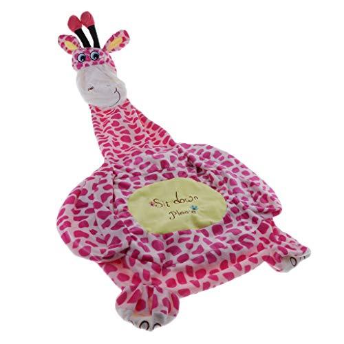 Perfeclan Chaise Étui pour Enfant Animal Motif – Sacs de Haricots Intérieur ou extérieur – Fauteuil Jardin Pouf Housse - Girafe (siège)