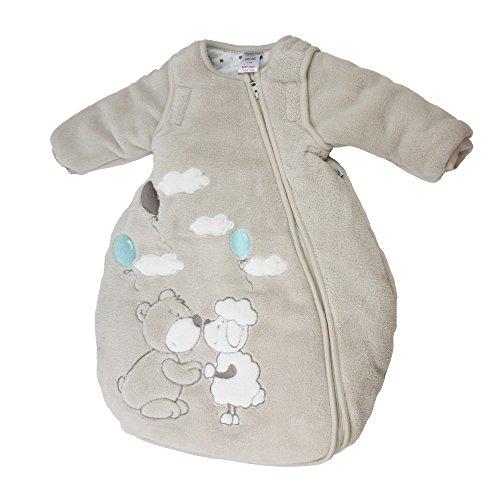 Jacky Mädchen und Jungen Winter Schlafsack mit abnehmbaren ärmeln, Teddy, Beige, Größe: 62/68, 322501-99