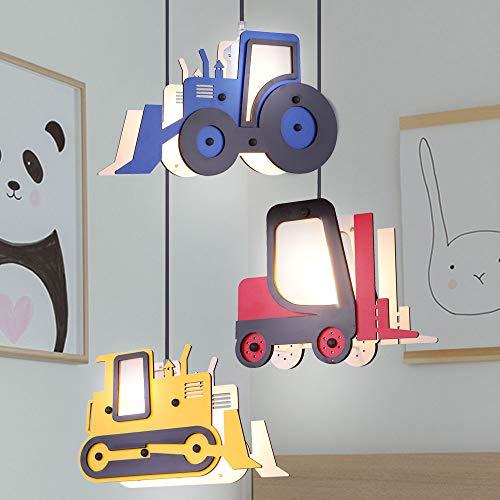 Kinder Decken Pendel Lampe Traktor Stapler Jungen Spiel Zimmer Hänge Leuchte Schubraupe