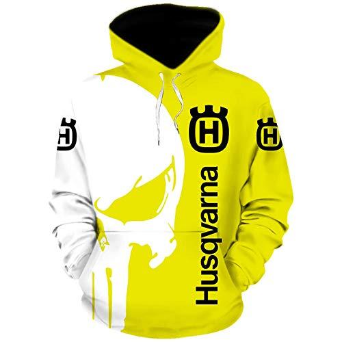 Gyulyaydin Hoodies,Chaquetas,Camiseta Hus_Qv-Ar_Na Punisher 3D Completo Impresión Delgado Hombre Y Mujer Casual Poliéster Sweatshirt Al Aire Libre / A1 / XXL