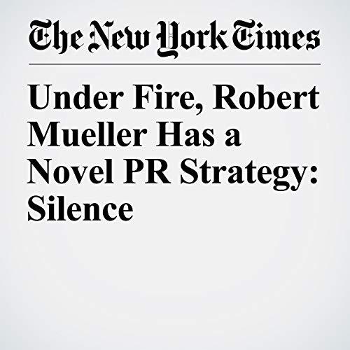 Under Fire, Robert Mueller Has a Novel PR Strategy: Silence copertina