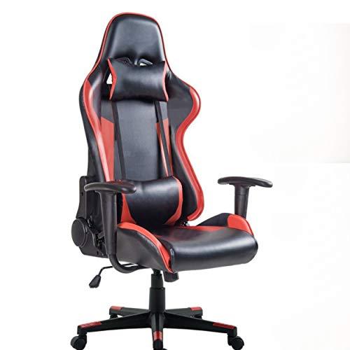 Silla Gamer PRO en polipiel ergonómica regulable en inclinación y giro con reposacabezas y apoyo lumbar gracias a esta silla tus horas de juego serán más cómodas y menos cansadas.