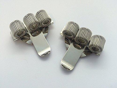 Triple trou en métal Pen Holder avec clip de poche–Les médecins, infirmière, uniforme, etc.