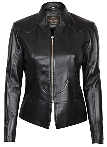 Decrum Real Leather Jackets for Women Lambskin Womens Leather Jacket
