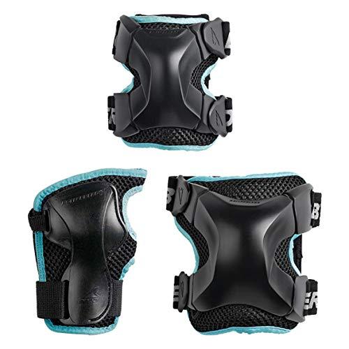 Rollerblade Damen X-Gear W 3 Pack Inliner Schoner, schwarz, S
