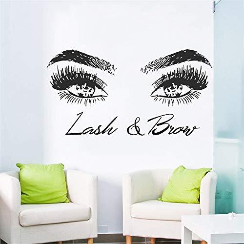 Stickers Muraux Cils Cils Sourcils Sourcils Salon De Beauté Décor Citation Oeil Maquillage Boutique Affiche