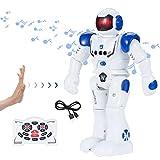 SENYANG Roboter Kinderspielzeug - Roboter Kinder RC Fernbedienung Intelligenter Roboter Intelligente Programmierung Gestenerkennung Roboter, RC Spielzeug für Kinder Jungen Mädchen Geschenk (Blau)