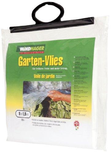 Preisvergleich Produktbild Windhager 06259 Garten-Vlies 5 x 1, 5 m,  weiß