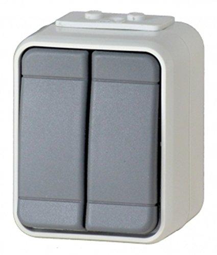 Elso 441509 Serienschalter 10A AquaTop licht/basaltgrau Schalter
