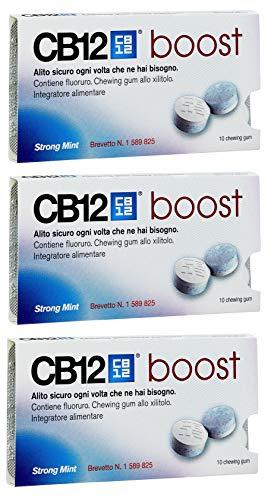 Mehrfachkauf 3x CB12 Boost Zucker Frei Starkes Minze Kaugummi 10 Stücke