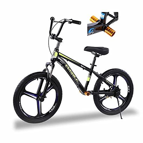 Bicicleta Sin Pedales Equilibrio Niño Grande/ Negro Adulto Bicicleta de Equilibrio con Freno de Mano Delantero, Rueda de Neumático de 16 Pulgadas / 20 Pulgadas, Estructura de Acero Portátil Bicicleta