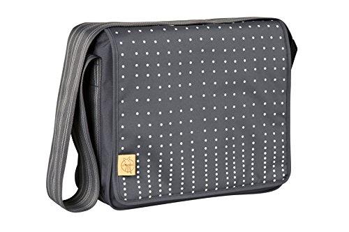 LÄSSIG Baby Wickeltasche Babytasche Stylische Umhängetasche inkl. Wickelzubehör/ Casual Messenger Bag Dotted lines