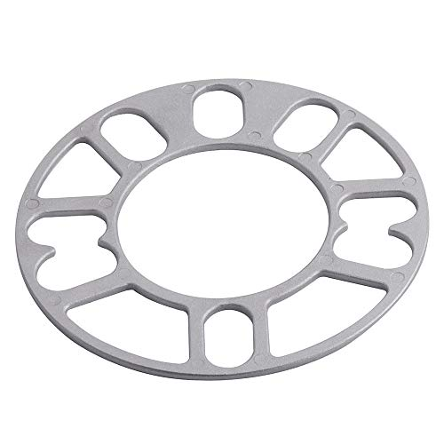 Separadores De Ruedas MARCA UNIVERSAL 4PCS 3mm 5mm 5 mm 8mm 10 mm de aluminio de la rueda de aluminio espaciador de la rueda de la placa de la placa 4x100 4x114.3 5x100 5x108 5x114.3 5x120