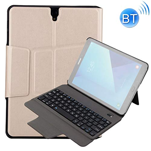 Angelay-Tian External Wireless Keyboard Pad Case Kids Pad for Samsung Tab S3 9.7 T820 / T825 Case Pad Air Case (Color : Gold)