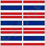 Thailand Flagge, thailändische Siam Siam 40mm (40,6cm) Mobile Handy Vinyl Mini Sticker, Aufkleber X6