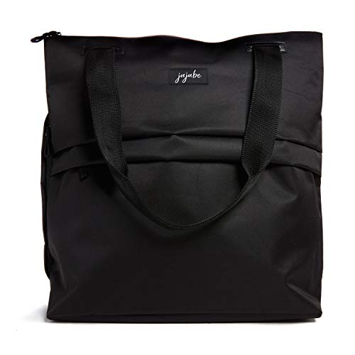 JuJuBe | All Purpose Shoulder Tote Bag | Durable Machine Washable Lightweight with Pockets use for Travel, Gym, Beach or Baby Diaper Bag | Black