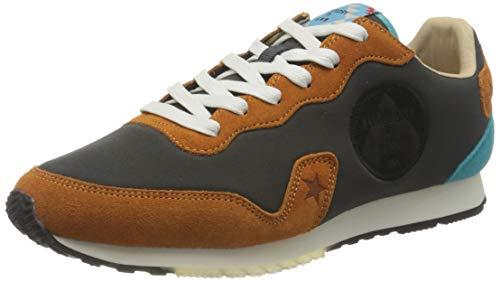 Superdry Mens Retro Runner Sneaker, Ochre/Black/Petrol,42 EU