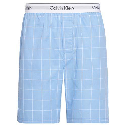 Calvin Klein Herren Sleep Short Schlafanzughose, Blau (MODERN Window- Blue Bay WN6), Small
