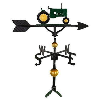 Montague Metall Produkte 32Deluxe Wetterfahne mit Grün Traktor Ornament von Montague Metall Produkte
