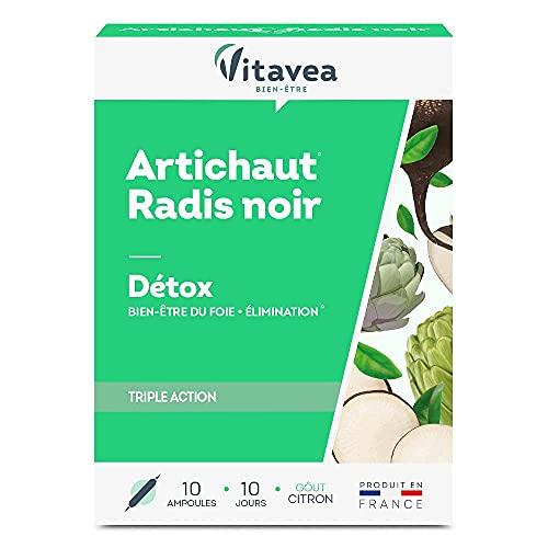 Vitavea - artichaut radis noir - complément alimentaire detox draineur et confort intestinal - 10 ampoules - Fabriqué en France