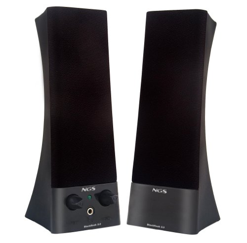 NGS Black Rook 2.0 - Altavoces 2.0, Color: Negro