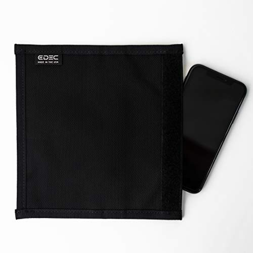 EDEC Non-Window Cell Phone Faraday Bag - Signal Blocking, Anti-Tracking, and Anti-Spying for Cell Phones, Key Fobs, Credit Cards, Passports, and More