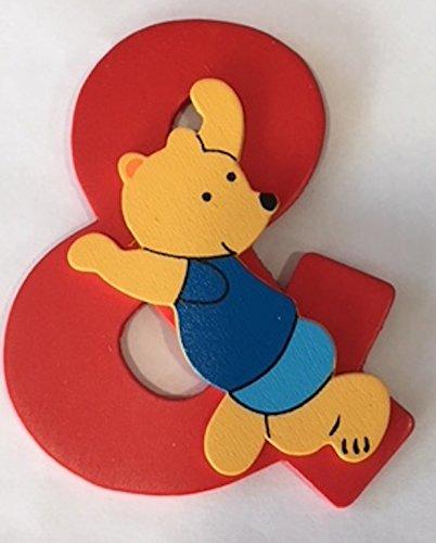 Heku Türschild Holzbuchstabe Teddy-Bär Türdekoration 80mm, Buchstabe:Plus