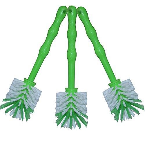 24now 3er Pack Mixtopf Spülbürste mit Nylonborsten - ideal zum Reinigen von Mixtöpfen wie z.B. Thermomix ® TM5/TM31 und Mixtöpfe Anderer Hersteller - 3X Grün